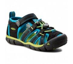 Outdorové sandále KEEN 1016426 Seacamp II Cnx, black/blue danube