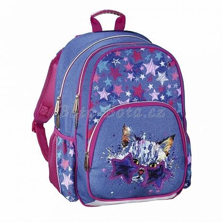 HAMA Školní batoh pro prvňáčky, Discokočka 139088