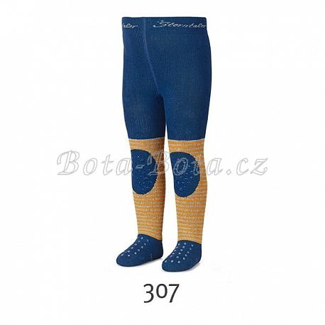 Froté punčocháče Sterntaler, ABS na chodidle, na nártu i na kolenou, 8751702-307