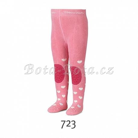 Froté punčocháče Sterntaler, ABS na chodidle, na nártu i na kolenou, 8751705-723