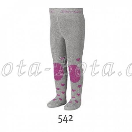 Froté punčocháče Sterntaler, ABS na chodidle, na nártu i na kolenou,8751706-542