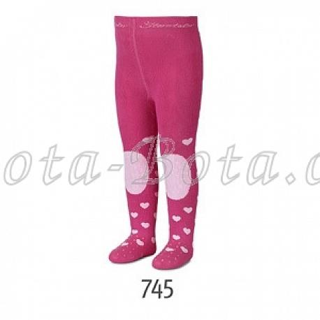 Froté punčocháče Sterntaler, ABS na chodidle, na nártu i na kolenou,8751706-745