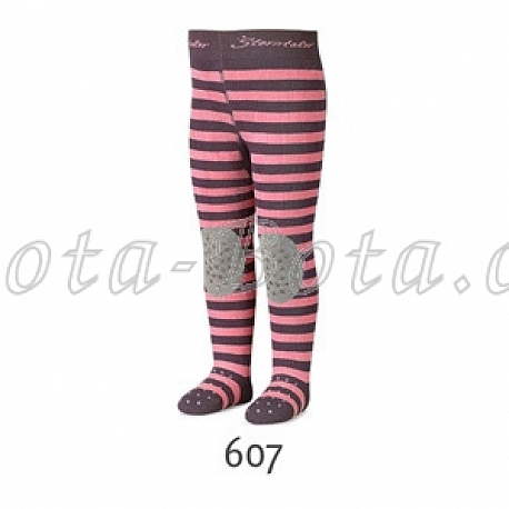 Froté punčocháče Sterntaler, ABS na chodidle, na nártu i na kolenou,8751707-607