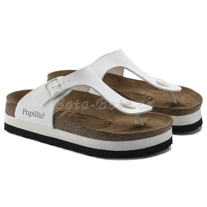 Dámské sandále Birkenstock 1005078, Gizeh Plateau White