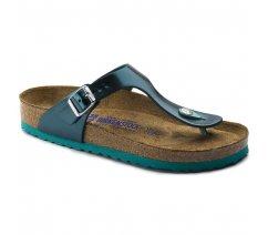 Dámské sandály Birkenstock 1003482, Gizeh NL SFB, Metallic Green