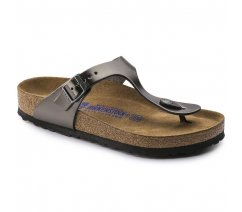 Dámské sandále Birkenstock 1003676, Gizeh NL SF, Metallic Anthracite
