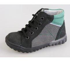 Dětská celoroční kožená kotníková obuv ESSI 1845 černá