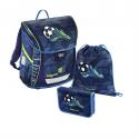 Školní aktovka - 3-dílný set, Baggymax Fabby Fotbal,138524