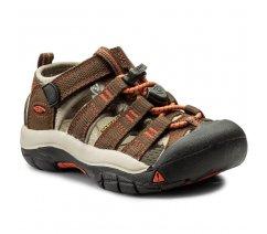 Outdorové sandále KEEN 1018259 NEWPORT H2 K, Dark earth/spicy orange
