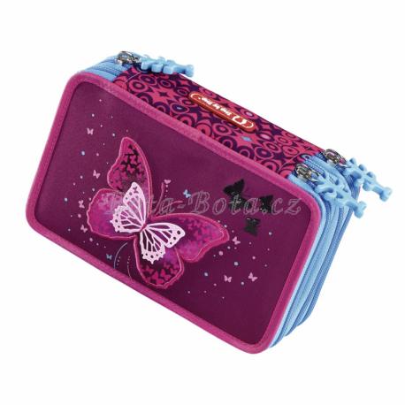 Vybavený blikací penál Step by Step Třpytivý motýl,139200