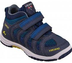 Viking 3-46510-7488 Cascade II Mid GTX, Denim/lime, dětská celoroční obuv nepromokavá