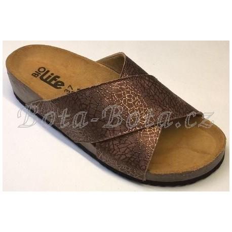 Dámské ortopedické sandále BioLife ROXANA Brown 1484