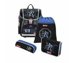 Školní aktovka TOUCH2 pro prvňáčky - 4-dílný set, Step by Step Robot, certifikát AGR,HM139208