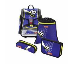 Školní aktovka TOUCH2 pro prvňáčky - 4-dílný set, Step by Step Fotbal, certifikát AGR