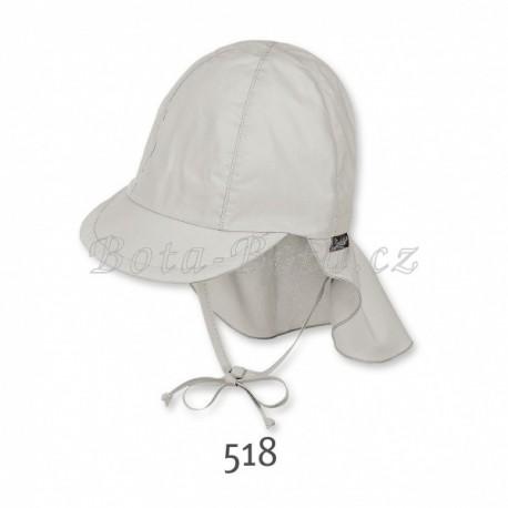 Plátěná čepice Sterntaler,  UV filtr, ochrana na krku, 1511410 -510