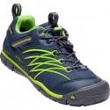 Dětské boty Keen 1017992 Chandler CNX Waterproof Trainers, Dress Blues/Greenery
