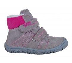 Dětské zimní boty Protetika ARTIK GREY, barefootová řada