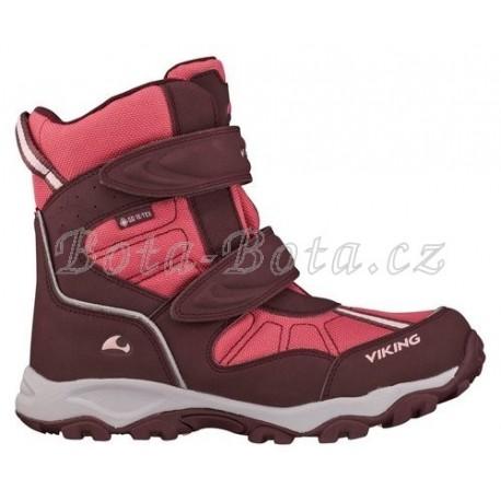 Dětské zimní boty Viking 3-82500-4110, Bluster II, wine/red, GTX