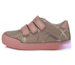 Dívčí celoroční blikací obuv DDstep 068-470A