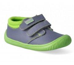 Dětská celoroční obuv RONY green - barefoot