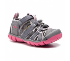 Dětské sandále Keen 1020647 SEACAMP II CNX C-STEEL GREY/RAPTURE ROSE