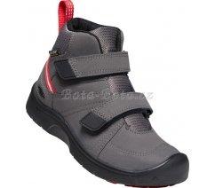 Dětská celoroční obuv Keen 1023833 HIKEPORT 2 MID STRAP WP C-MAGNET/RED CARPET