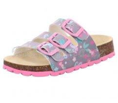 Dětské pantofle Superfit 1-800113-2010 FUSSBETTPANTOFFEL