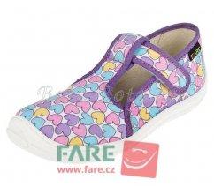 Fare Bare dětské papuče na suchý zip 5202492