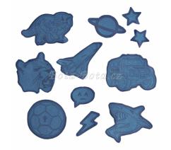 Reflexní samolepky Step by Step, modré,129762