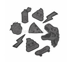 Reflexní samolepky StickyRicky coocazoo, černé,129758