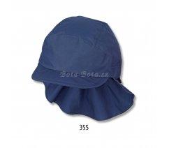 Sterntaler 1531430-355 Plátěná čepice, UV filtr, ochrana na krku