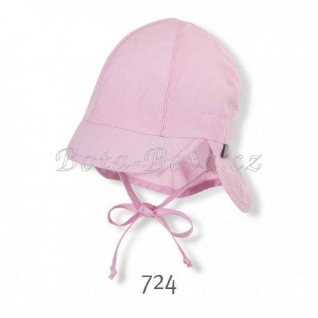 Sterntaler 1502025 Plátěná čepice, UV filtr, ochrana na krku