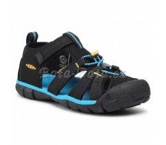 Dětské sandály Keen 1025141 SEACAMP II CNX C BLACK/KEEN YELLOW