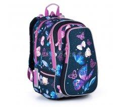 Školní batoh s motýlky Topgal LYNN 21007 G