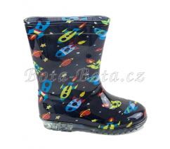 chlapecké holínky PVC - vesmír SPACE, Pidilidi, PL0083, kluk - 29