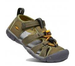Dětské sandály Keen 1025145 SEACAMP II CNX C MILITARY OLIVE/SAFFRON