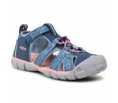 Dívčí sandále Keen 1025153 SEACAMP II CNX C REAL TEAL/STONE Blue