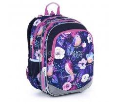 Modrý školní batoh s ptáčky Topgal ELLY 21004 G
