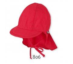 Čepice s kšiltem UV filtr, s ochranou plachetkou na krku, Sterntaler, červená, 1511410-806